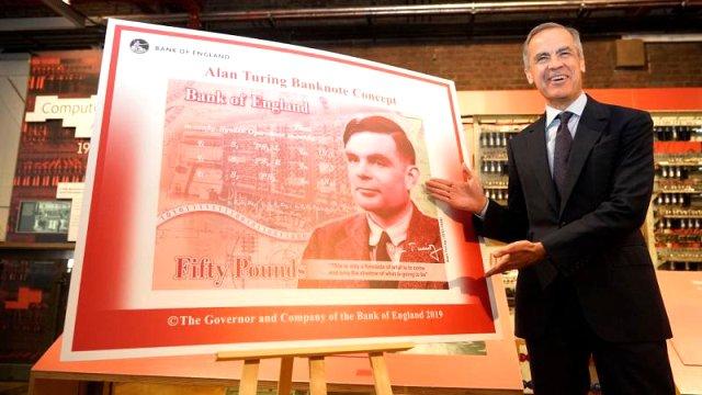İngiliz mucit Turing banknota basılıyor