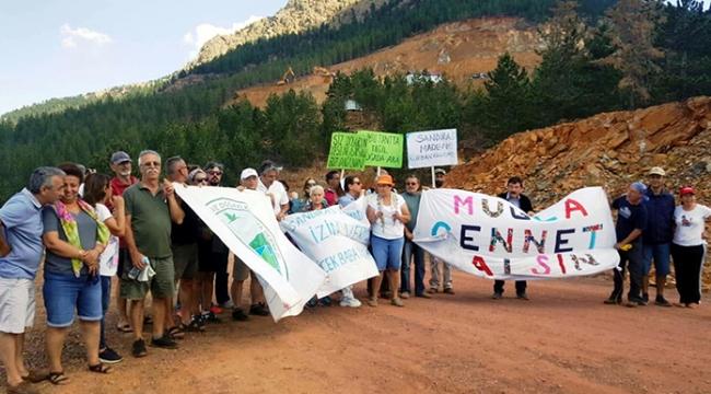 Maden ocağının büyütülmek istenmesine tepki
