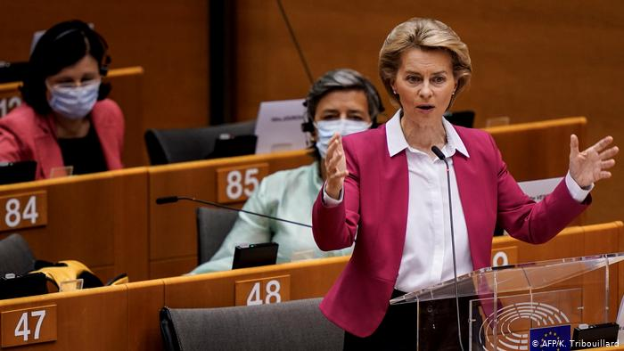 AB Komisyonu Başkanı Leyen '750 milyar euroluk' yardım planını açıkladı