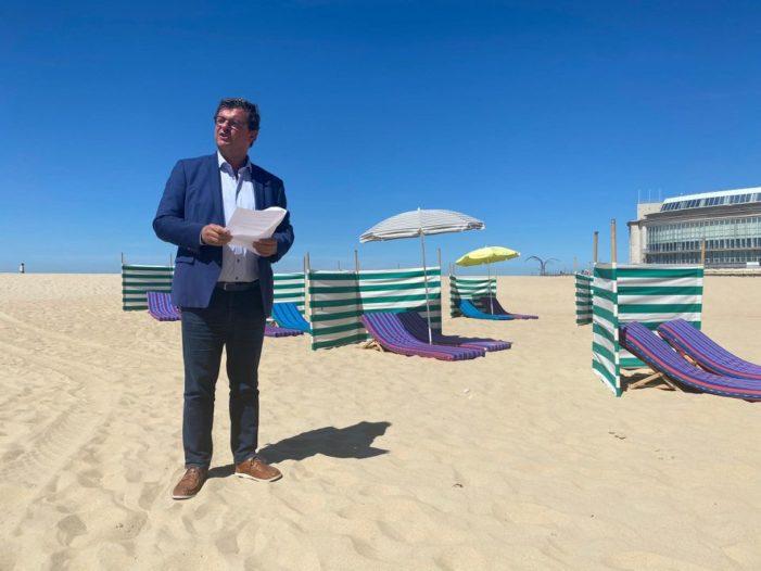 Ostend da plaj rezervasyon sistemini kuruldu